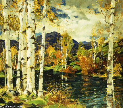 Березы по Jonas Lie (1880-1940, Norway)