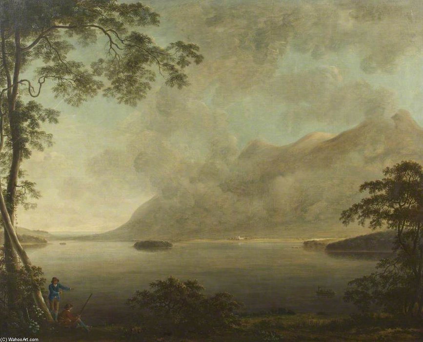 Ландшафт – Вид Derwentwater по Anthony Devis (1729-1816, United Kingdom)