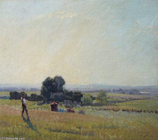 утро свет по Elioth Gruner (1882-1939, New Zealand)