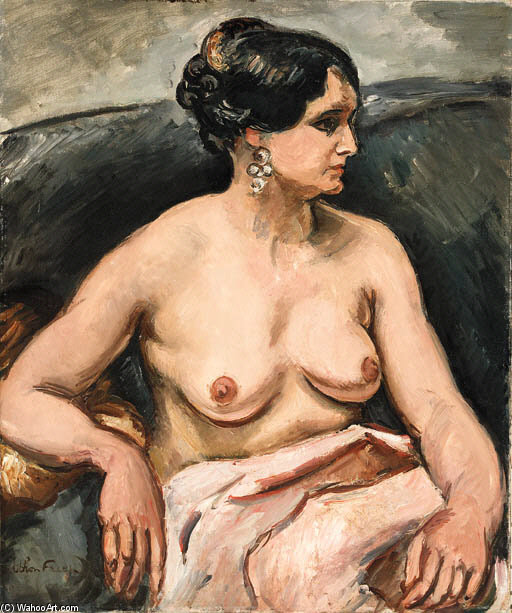 Сидящая женщина по Emile Othon Friesz (1879-1949, France)