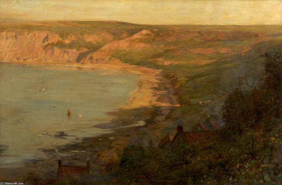 Runswick Bay, Северный Йоркшир по Frederick William Jackson (1843-1942, United States)