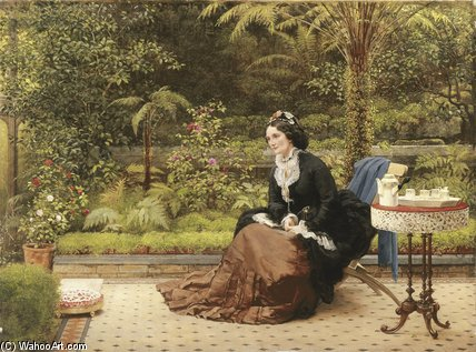 Пять Часов по George Dunlop Leslie (1835-1921, United Kingdom)