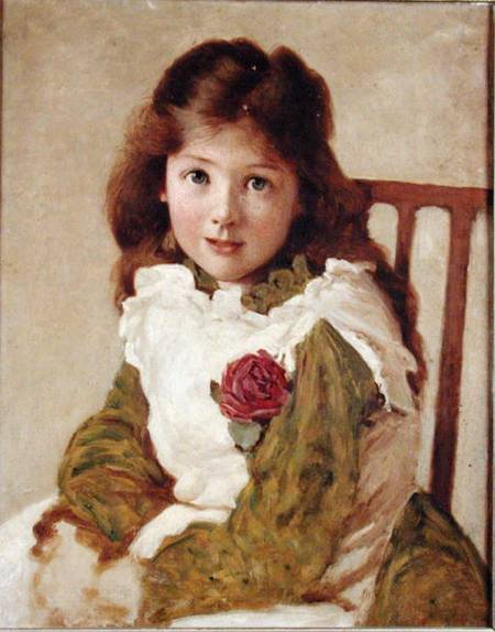 Портрет дочери художника по George Dunlop Leslie (1835-1921, United Kingdom)