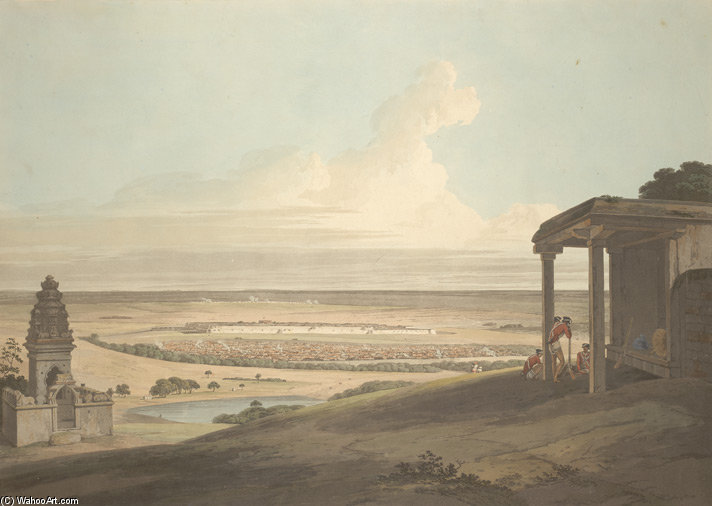 Ousoor В Майсур по Thomas And William Daniell (1769-1837, United Kingdom)