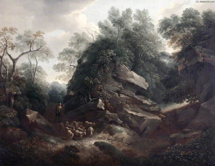 Hampton Скалы , Утром по Thomas Barker (1769-1847, United States)