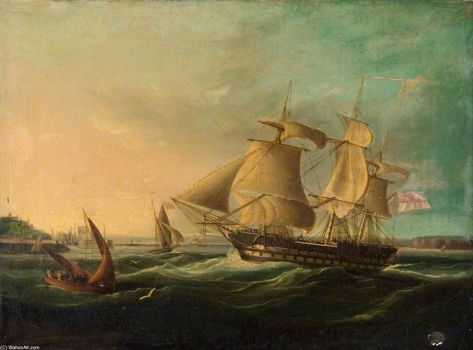 доставка off берег по Thomas Buttersworth (1768-1842, United Kingdom)