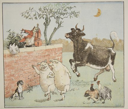 по Randolph Caldecott (1846-1886, United Kingdom)