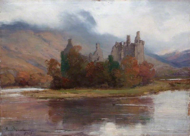 Kilchurn замок, Аргайл по David Farquharson (1839-1907, United Kingdom)