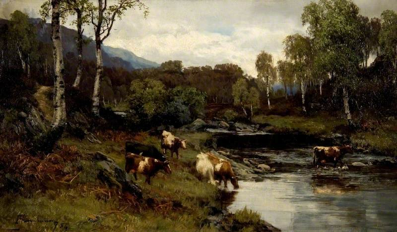 On The Achray по David Farquharson (1839-1907, United Kingdom)