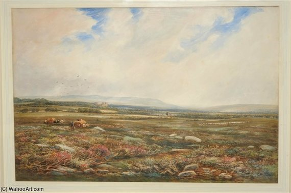 Замок Болтон С Wensleydale Beyond по Thomas Collier (1620-1691, United Kingdom)