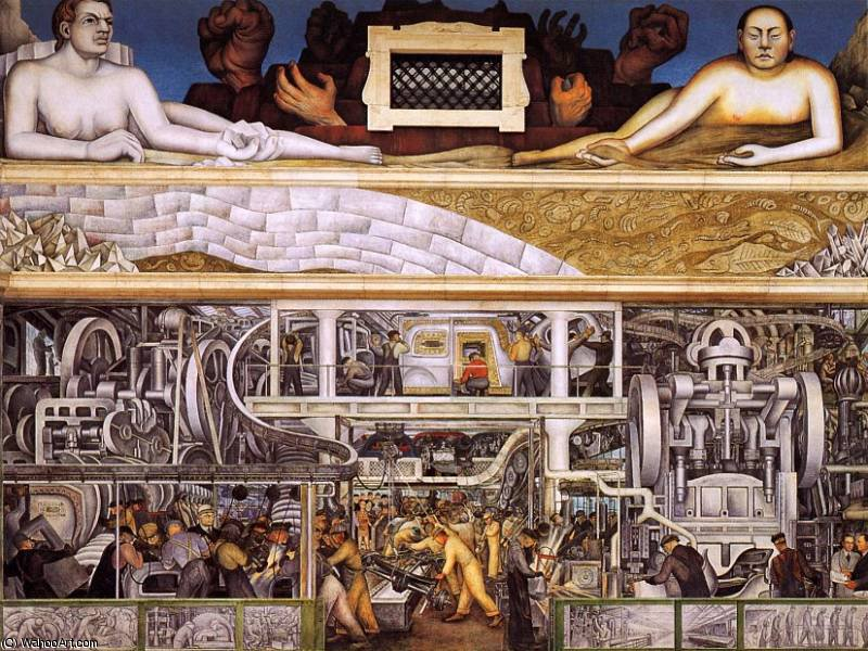 Детройт промышленность, 1933 по Diego Rivera (1886-1957, Mexico)