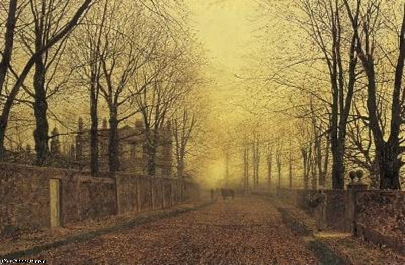 осень по John Atkinson Grimshaw (1836-1893, United Kingdom)