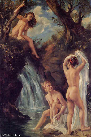 EL Бано-де-лас ninfas по Jorge Apperley (George Owen Wynne Apperley) (1884-1960, United Kingdom)