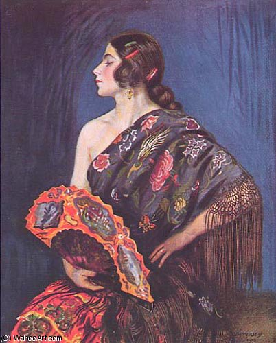 ла Maja по Jorge Apperley (George Owen Wynne Apperley) (1884-1960, United Kingdom) | Искусство Воспроизведение | ArtsDot.com