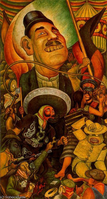 по Diego Rivera (1886-1957, Mexico)
