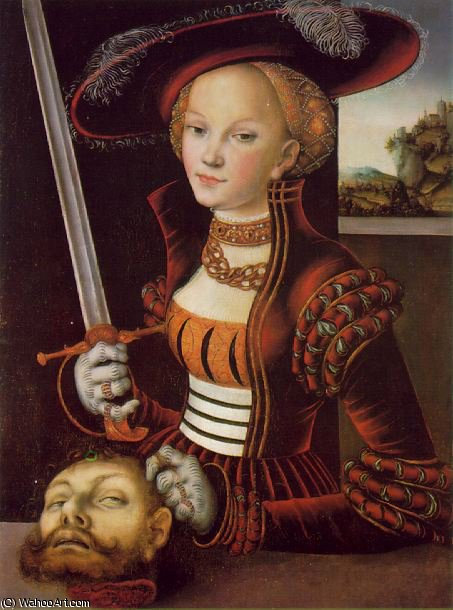 Джудит победу - -, 1530 по Lucas Cranach The Elder (1472-1553, Germany)