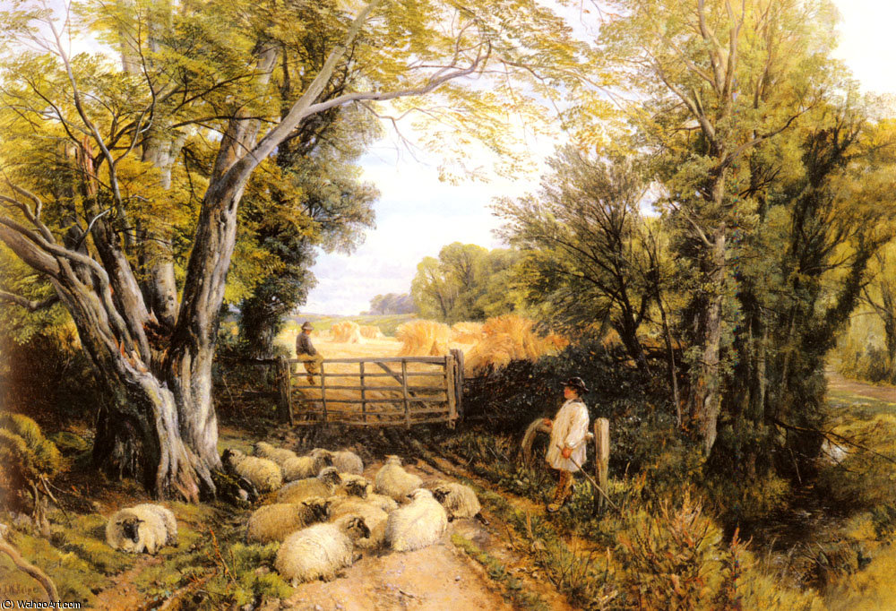 Пейзаж в Уэльсе по Frederick William Hulme (1816-1884, United Kingdom)