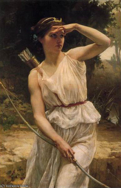 Диана охота по Guillaume Seignac (1870-1924, France)