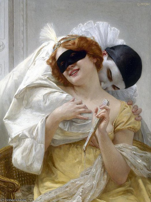 Пьеро обнять по Guillaume Seignac (1870-1924, France)