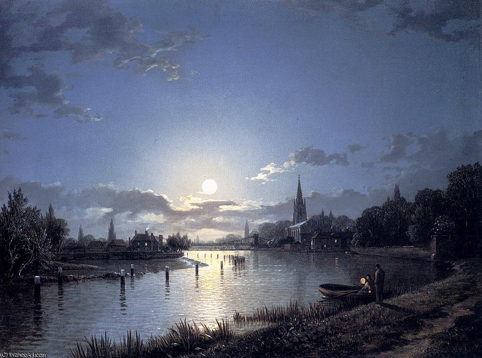 Марлоу на Темзе по Henry Pether (1828-1865, United Kingdom) | ArtsDot.com