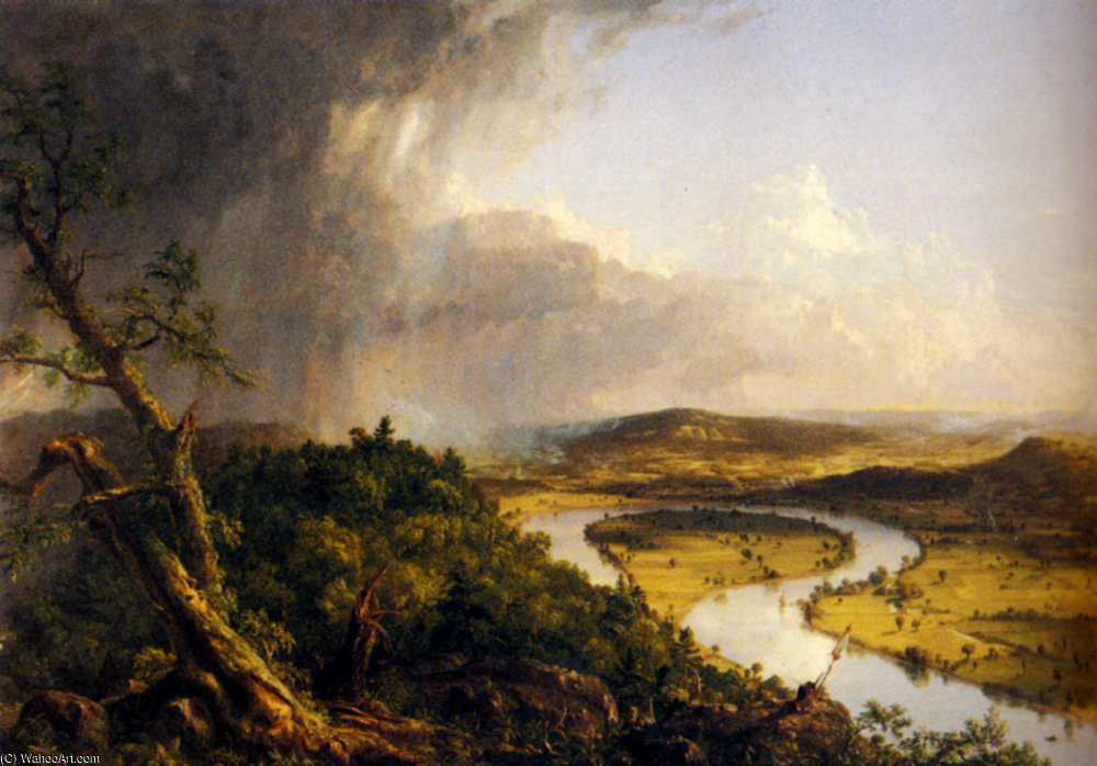 вид из Крепление  Хольок  Нортгемптон  штат Массачусетс  по Thomas Cole (1801-1848, United Kingdom) | ArtsDot.com