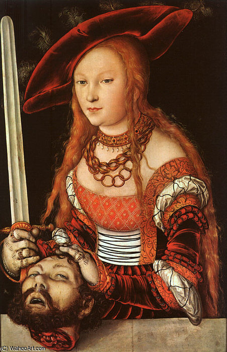 Джудит с голова олоферна , ок . - ( 153 ) по Lucas Cranach The Elder (1472-1553, Germany)