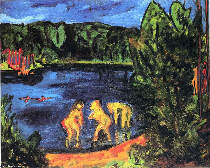 по Erich Heckel (1883-1970, Germany)