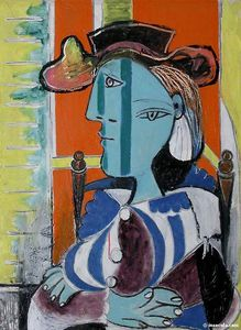 Pablo Picasso - фам assise окс  бюстгальт..