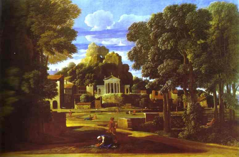Пейзаж с евангелистом матфеем