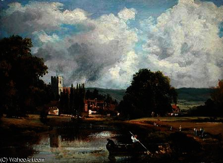 темзе в мортлейке по Frederick Waters (William) Watts (1800-1870, United Kingdom)