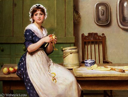 Яблоко пельмени по George Dunlop Leslie (1835-1921, United Kingdom) | Репродукции Музея | ArtsDot.com