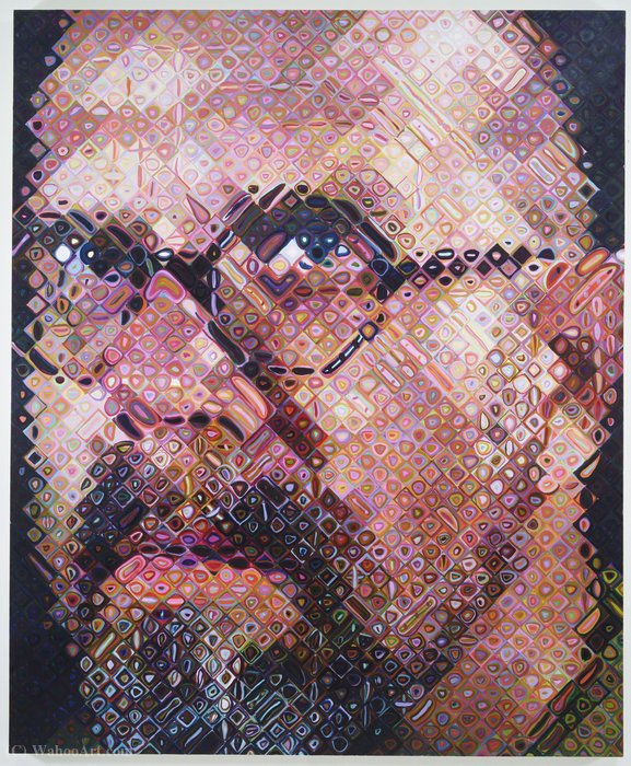 an introduction to the life of chuck close an american photorealist About him chuck close is an american painter and photographer he is a photorealist there is no space or make you think of a life experience chuck close.