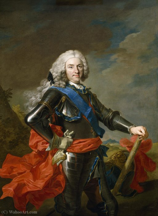 Портрет филипп v испании по Louis Michel Van Loo (1707-1771, France)