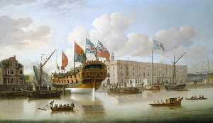 John Cleveley The Elder - Тот -St Albans- Плавали на Дептфорд , 1747