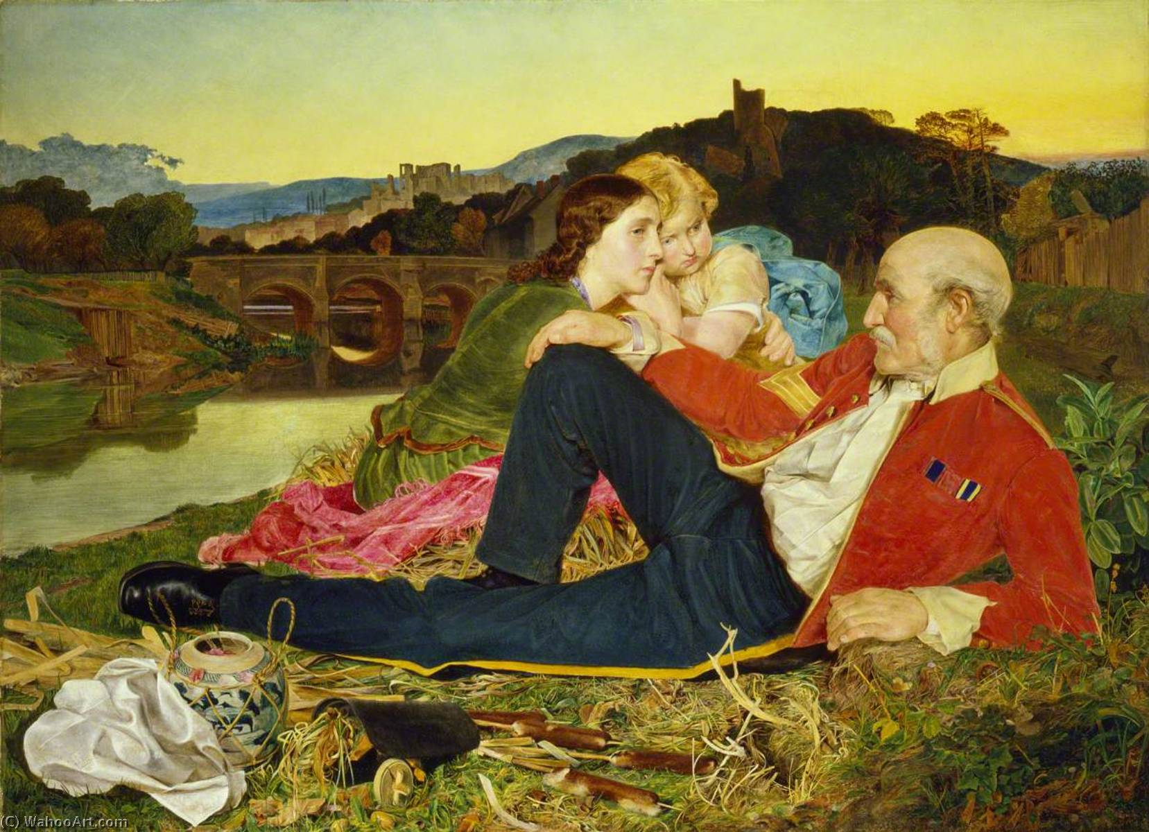 осени, 1860 по Anthony Frederick Augustus Sandys (1829-1904, United Kingdom) | Картина Копия | ArtsDot.com